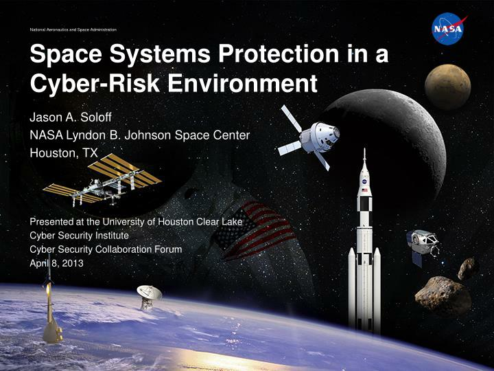 space systems protection in a cyber risk environment n.