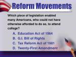 reform movements9
