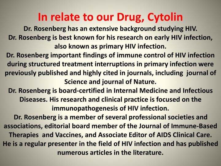 In relate to our Drug, Cytolin
