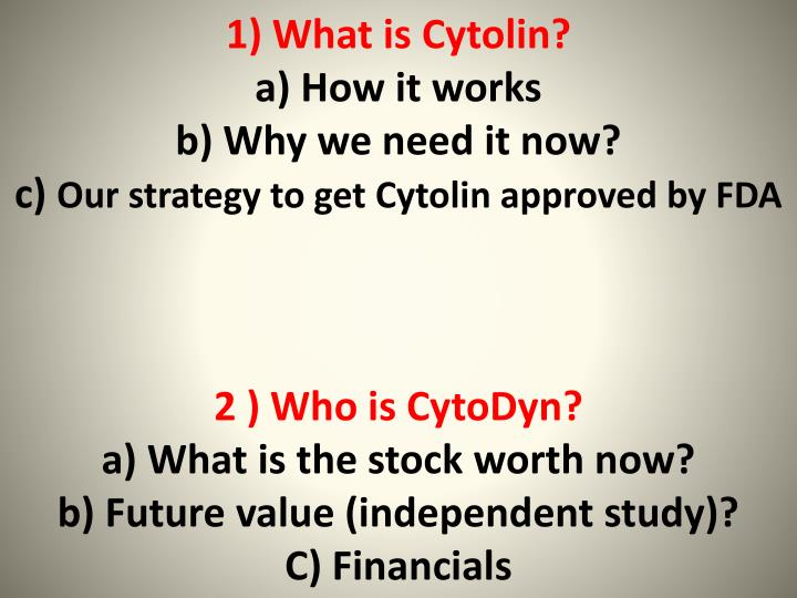 1) What is Cytolin?