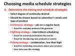 choosing media schedule strategies