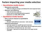 factors impacting your media selection2