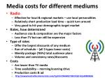 media costs for different mediums3