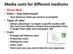 media costs for different mediums6