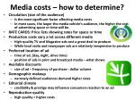 media costs how to determine