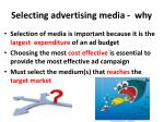 selecting advertising media why