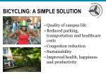 bicycling a simple solution