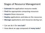 stages of resource management