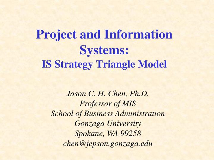 project and information systems is strategy triangle model n.