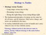 strategy vs tactics