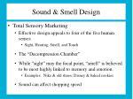 sound smell design