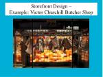 storefront design example victor churchill butcher shop