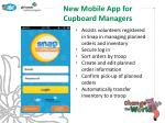 new mobile app for cupboard managers