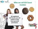 who can sell girl scout cookies