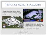 practice facility collapse