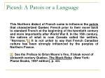 picard a patois or a language