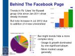 behind the facebook page