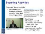 scanning activities