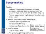sense making
