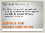 mentor job responsibilities
