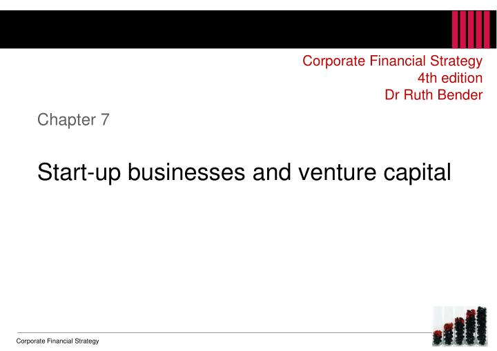 chapter 7 start up businesses and venture capital n.