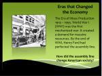 eras that changed the economy
