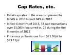 cap rates etc