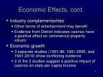 economic effects cont