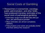 social costs of gambling