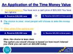 an application of the time money value