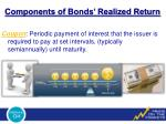 components of bonds realized return