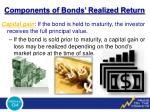components of bonds realized return1