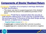 components of stocks realized return