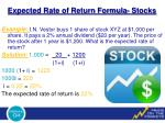 expected rate of return formula stocks1
