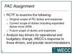 fac assignment