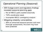 operational planning seasonal