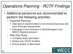 operations planning rctf findings