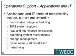 operations support applications and it