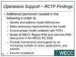 operations support rctf findings