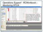 operations support rcworkbook monitoring rtca