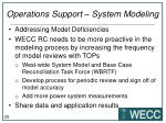 operations support system modeling4