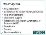 report agenda