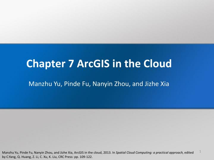 chapter 7 arcgis in the cloud n.