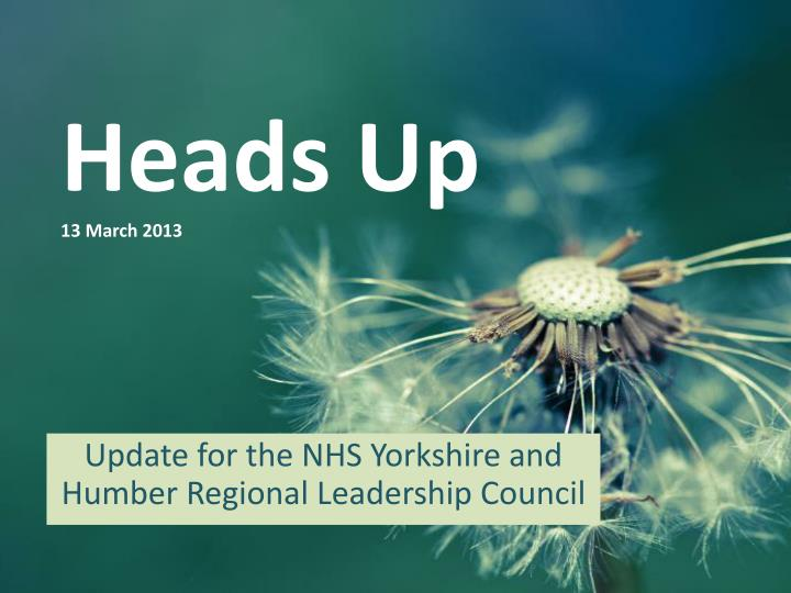 heads up 13 march 2013 n.