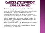 career television appearances