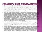 charity and campaigning