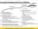learning development key focus initiatives