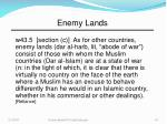 enemy lands