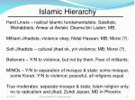 islamic hierarchy