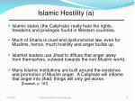 islamic hostility a